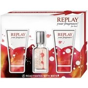 Replay Your Fragrance! for Her Ajándékszett Eau de Toilette 20ml + SG 50ml + dezodor 50ml